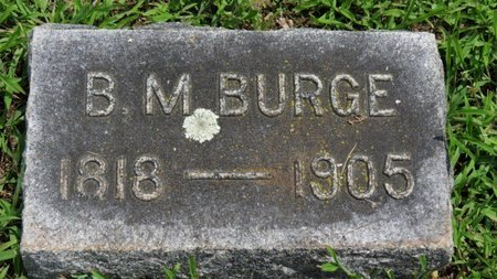 BURGE, B.M. - Ashland County, Ohio | B.M. BURGE - Ohio Gravestone Photos