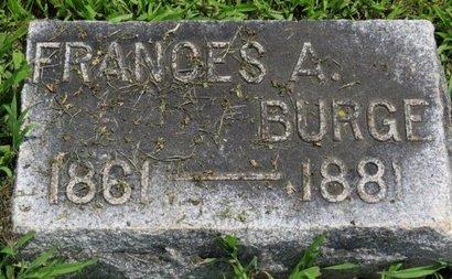 BURGE, FRANCES A. - Ashland County, Ohio | FRANCES A. BURGE - Ohio Gravestone Photos