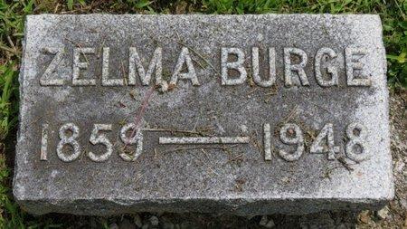 BURGE, ZELMA - Ashland County, Ohio | ZELMA BURGE - Ohio Gravestone Photos