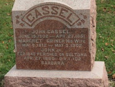 GRINER CASSEL, MARGRET - Ashland County, Ohio | MARGRET GRINER CASSEL - Ohio Gravestone Photos