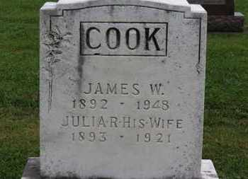 COOK, JULIA R. - Ashland County, Ohio   JULIA R. COOK - Ohio Gravestone Photos