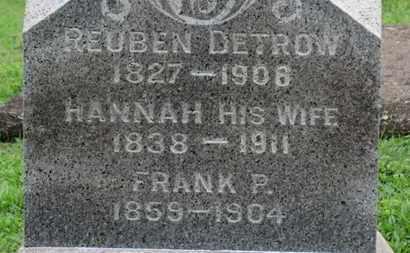 DETROW, HANNAH - Ashland County, Ohio | HANNAH DETROW - Ohio Gravestone Photos