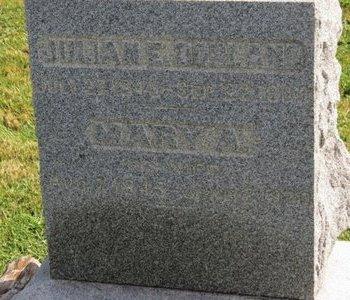 DORLAND, MARY A. - Ashland County, Ohio | MARY A. DORLAND - Ohio Gravestone Photos