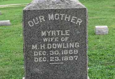 DOWLING, MYRTLE - Ashland County, Ohio | MYRTLE DOWLING - Ohio Gravestone Photos