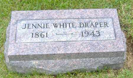WHITE DRAPER, JENNIE M. - Ashland County, Ohio | JENNIE M. WHITE DRAPER - Ohio Gravestone Photos