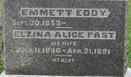 FAST EDDY, ELZINA ALICE - Ashland County, Ohio | ELZINA ALICE FAST EDDY - Ohio Gravestone Photos