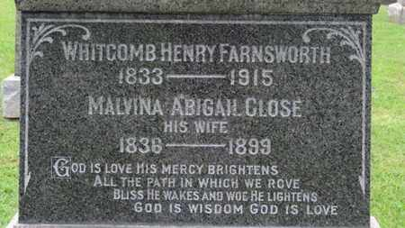 FARNSWORTH, WHITCOMB HENRY - Ashland County, Ohio | WHITCOMB HENRY FARNSWORTH - Ohio Gravestone Photos