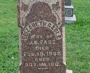 GABLE FAST, ELIZABETH - Ashland County, Ohio | ELIZABETH GABLE FAST - Ohio Gravestone Photos