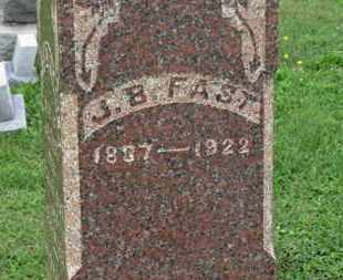 FAST, J.B. - Ashland County, Ohio | J.B. FAST - Ohio Gravestone Photos