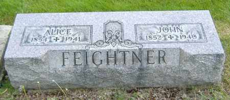 FEIGHTNER, ALICE - Ashland County, Ohio | ALICE FEIGHTNER - Ohio Gravestone Photos