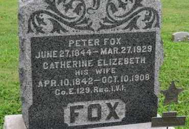 FOX, CATHERINE ELIZEBETH - Ashland County, Ohio | CATHERINE ELIZEBETH FOX - Ohio Gravestone Photos