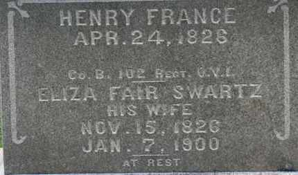 FRANCE, ELIZA FAIR - Ashland County, Ohio | ELIZA FAIR FRANCE - Ohio Gravestone Photos