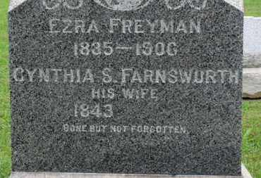 FARNSWORTH FREYMAN, CYNTHIA S. - Ashland County, Ohio | CYNTHIA S. FARNSWORTH FREYMAN - Ohio Gravestone Photos