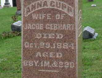 GEBHART, ANNA - Ashland County, Ohio | ANNA GEBHART - Ohio Gravestone Photos