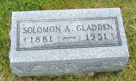 GLADDEN, SOLOMON A. - Ashland County, Ohio | SOLOMON A. GLADDEN - Ohio Gravestone Photos