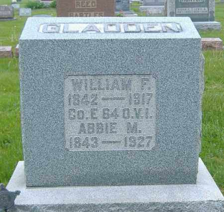 GLADDEN, WILLIAM FRANKLIN - Ashland County, Ohio | WILLIAM FRANKLIN GLADDEN - Ohio Gravestone Photos