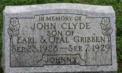 GRIBBEN, JOHN CLYDE - Ashland County, Ohio | JOHN CLYDE GRIBBEN - Ohio Gravestone Photos