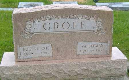 BEEMAN GROFF, IVA - Ashland County, Ohio | IVA BEEMAN GROFF - Ohio Gravestone Photos
