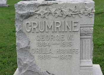 GRUMRINE, GEORGE W. - Ashland County, Ohio | GEORGE W. GRUMRINE - Ohio Gravestone Photos