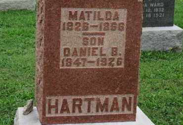 HARTMAN, MATILDA - Ashland County, Ohio | MATILDA HARTMAN - Ohio Gravestone Photos