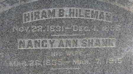 SHANK HILEMAN, NANCY ANN - Ashland County, Ohio | NANCY ANN SHANK HILEMAN - Ohio Gravestone Photos