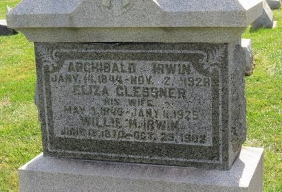 CLESSNER IRWIN, ELIZA - Ashland County, Ohio | ELIZA CLESSNER IRWIN - Ohio Gravestone Photos