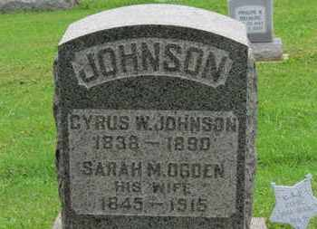 OGDEN JOHNSON, SARAH M. - Ashland County, Ohio | SARAH M. OGDEN JOHNSON - Ohio Gravestone Photos