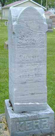 "GLADDEN KERR, MARY JANE ""JENNIE"" - Ashland County, Ohio 