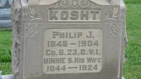 KOSHT, PHILIP J. - Ashland County, Ohio | PHILIP J. KOSHT - Ohio Gravestone Photos
