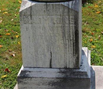 LONG, MARY - Ashland County, Ohio   MARY LONG - Ohio Gravestone Photos