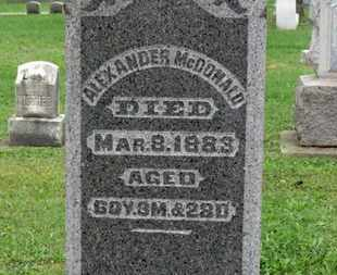 MCDONALD, ALEXANDER - Ashland County, Ohio | ALEXANDER MCDONALD - Ohio Gravestone Photos