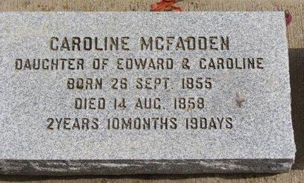 MCFADDEN, CAROLINE - Ashland County, Ohio | CAROLINE MCFADDEN - Ohio Gravestone Photos