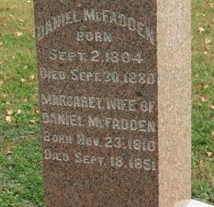 MCFADDEN, DANIEL - Ashland County, Ohio | DANIEL MCFADDEN - Ohio Gravestone Photos
