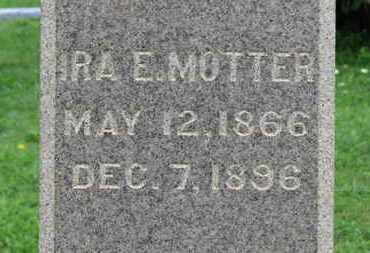 MOTTER, IRA E. - Ashland County, Ohio | IRA E. MOTTER - Ohio Gravestone Photos