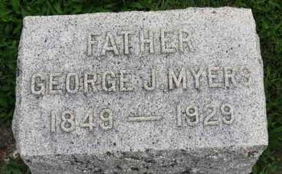 MYERS, GEORGE J. - Ashland County, Ohio   GEORGE J. MYERS - Ohio Gravestone Photos