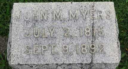 MYERS, JOHN M. - Ashland County, Ohio | JOHN M. MYERS - Ohio Gravestone Photos