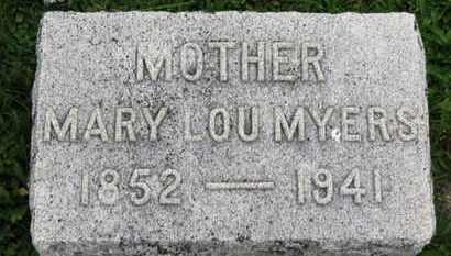 MYERS, MARY LOU - Ashland County, Ohio | MARY LOU MYERS - Ohio Gravestone Photos