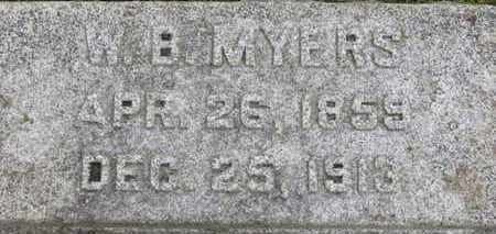MYERS, W.B. - Ashland County, Ohio | W.B. MYERS - Ohio Gravestone Photos