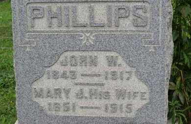 PHILLIPS, MARY J. - Ashland County, Ohio | MARY J. PHILLIPS - Ohio Gravestone Photos