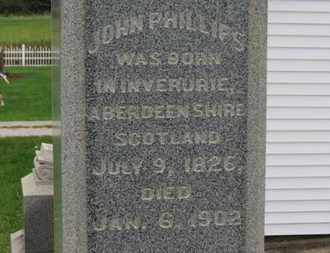 PHILLIPS, JOHN - Ashland County, Ohio | JOHN PHILLIPS - Ohio Gravestone Photos
