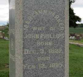 PHILLIPS, MARY ANN - Ashland County, Ohio | MARY ANN PHILLIPS - Ohio Gravestone Photos