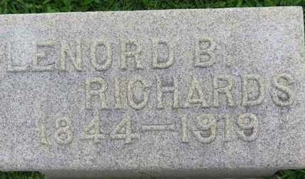 RICHARDS, LENORD B. - Ashland County, Ohio | LENORD B. RICHARDS - Ohio Gravestone Photos