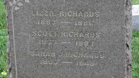 RICHARDS, LIZZIE - Ashland County, Ohio | LIZZIE RICHARDS - Ohio Gravestone Photos