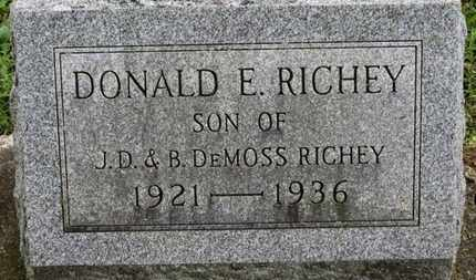 RICHEY, DONALD E. - Ashland County, Ohio | DONALD E. RICHEY - Ohio Gravestone Photos