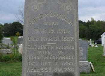 RICKENBROD, ELIZABETH - Ashland County, Ohio | ELIZABETH RICKENBROD - Ohio Gravestone Photos