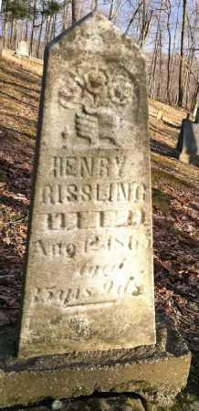 RISSLING, HENRY - Ashland County, Ohio | HENRY RISSLING - Ohio Gravestone Photos