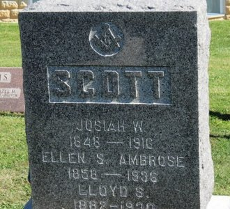 AMBROSE SCOTT, ELLEN S. - Ashland County, Ohio | ELLEN S. AMBROSE SCOTT - Ohio Gravestone Photos