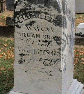 SHAW, ELIZABETH - Ashland County, Ohio | ELIZABETH SHAW - Ohio Gravestone Photos