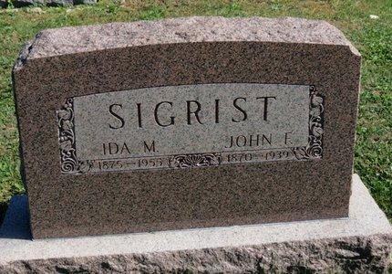 SIGRIST, IDA M. - Ashland County, Ohio | IDA M. SIGRIST - Ohio Gravestone Photos
