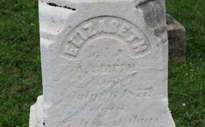 SMITH, ELIZABETH - Ashland County, Ohio | ELIZABETH SMITH - Ohio Gravestone Photos